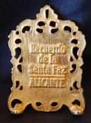 Recuerdo de la Snata Faz Allcante (Reverse side inscription)