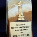 Count Dracula Society Literature Award 1989