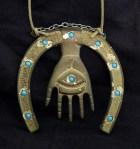 Amulet, Hamsa hanging from horseshoe
