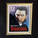 Replica of USA postage stamp of Bela Lugosi as Dracula