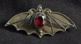 Bat pin with gemstone