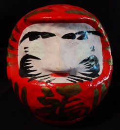 Daruma doll with rounded bottom