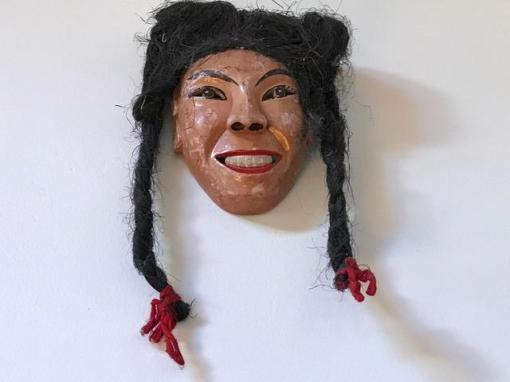 China-Painted wood and horse hair braids-2007