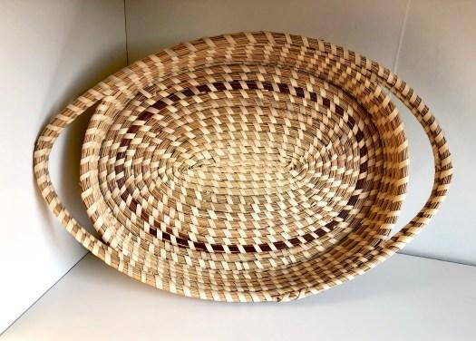 """Sea Grass Basket, 8"""" x 12"""" circa 2013/unknown artist."""