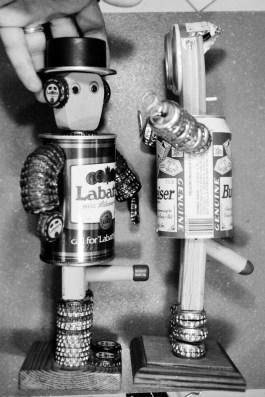 Barrel Men from Beer Cans