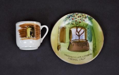 Underground Garden Espresso Cup and Saucer Chinaware