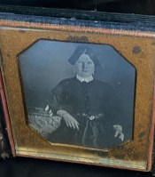 "This beautiful lady was purchased on E-bay. When you hold the daguerreotype in your hands the detail is so amazing. Daguerreotype-3"" x 3 1/2"""