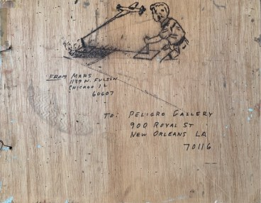 "Alfred ""Big Al"" Taplet, 1994. 24x20 inches. Plywood."