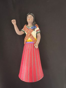 This 5.5-inch clay soldadera by National Heritage Award Fellow Verónica Castillo is one of my favorites. I named her Adelita.