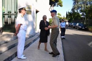 La dr.ssa Preti con il Segr. Gen. gen. Stefanini