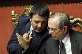 Il premier Renzi e il Ministro Padoan