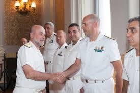 L'amm. PL Ricca, Capo 1° Rep SMM, con  l' amm. Binelli Mantelli gia Capo SMM