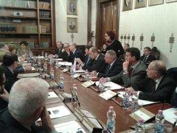 La foto del tavolo  con i partecipanti