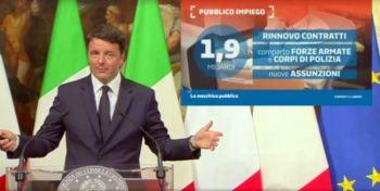 La slide che accompagna le comunicazioni del Presidente Renzi sulle scelte in materia di P.I.