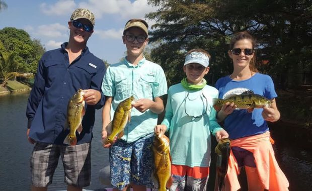 Arnold Family Take On South Miami Peacock Bass Fishing
