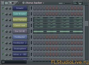 Окно каналов и пошаговый Секвенсор FL Studio