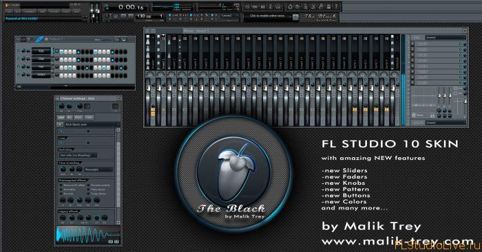 Новый скин для FL Studio 10 The Black