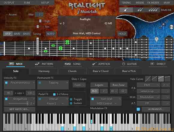 Скачать VST плагин гитары MusicLab RealEight v4.0.0.7252 Incl Patch and Keygen (WiN and OSX)