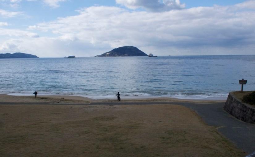 冬の志賀島ツーリング