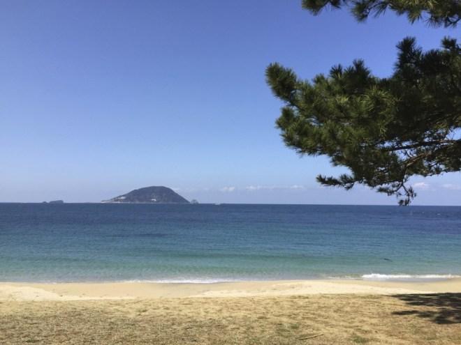 志賀島の海水浴場
