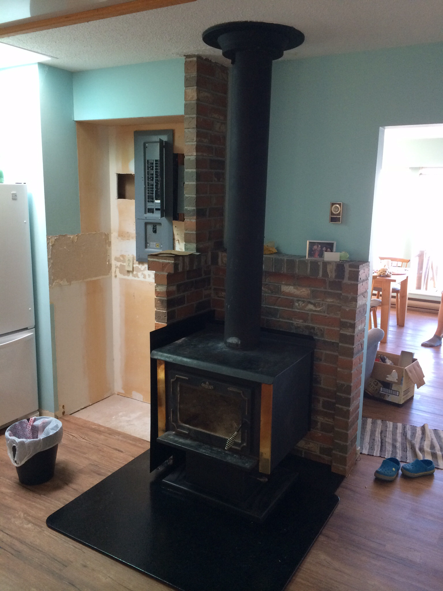 Wood Burning Stove Floor And Wall Protection