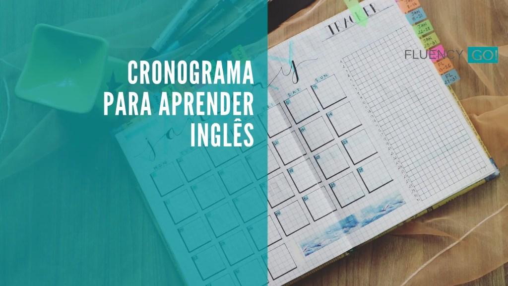 cronograma para aprender inglês