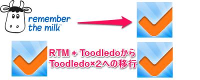 RTM+ToodledoからToodledo×2への移行