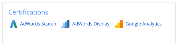 google certified, google analytics, google partner, google adwords
