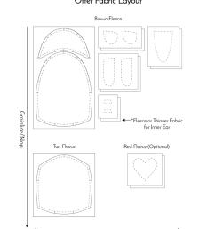 free otter pattern fabric layout fluffmonger [ 855 x 1024 Pixel ]