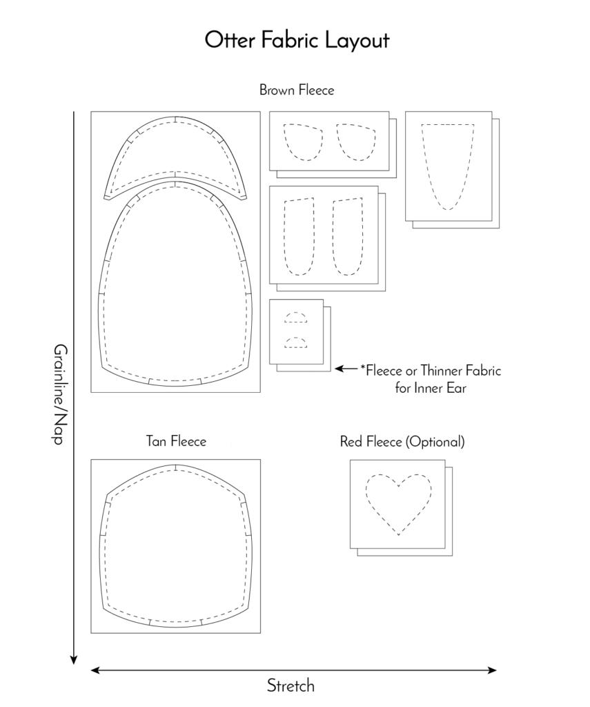 medium resolution of free otter pattern fabric layout fluffmonger