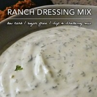 Healthy Ranch Dip Mix - Low Carb and Sugar Free