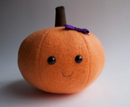 a pumpkin custom plush