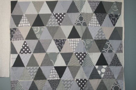 gray triangle quilt from film-in-the-fridge