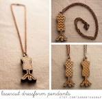 lasercut dressform pendants at samanthasnap - free shipping!