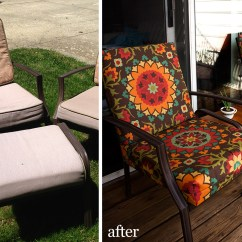 Sewing Patterns For Patio Chair Cushions Memory Foam Office Recovered Fluffyland Craft Blog Before And After