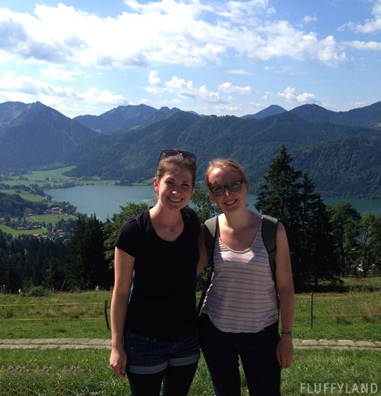 sam and marie at the schliersbergalm