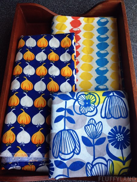 onions and lemons - fabric from japan