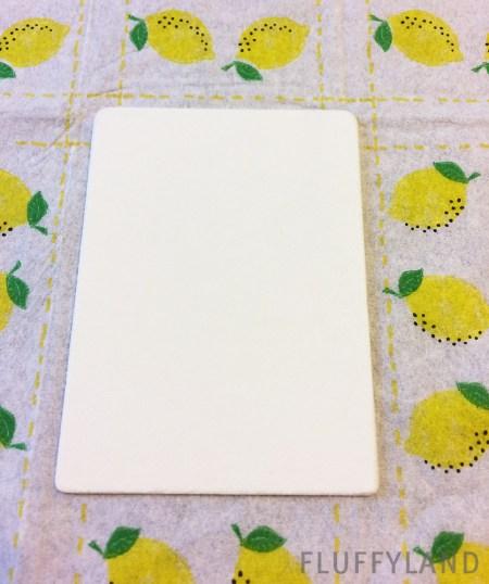 framed tissue tiny art - lemons
