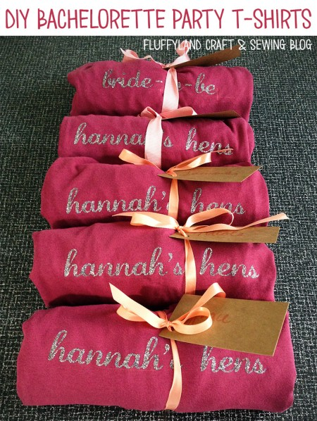 diy bachelorette t-shirts: hen party