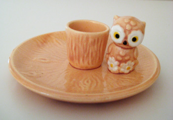 tiny owl candle dish (25 cents) that i couldn't leave behind
