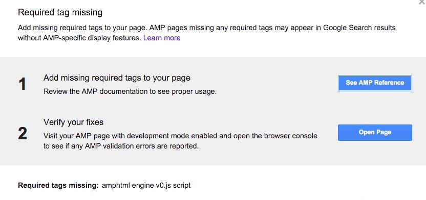 AMP Validation Error