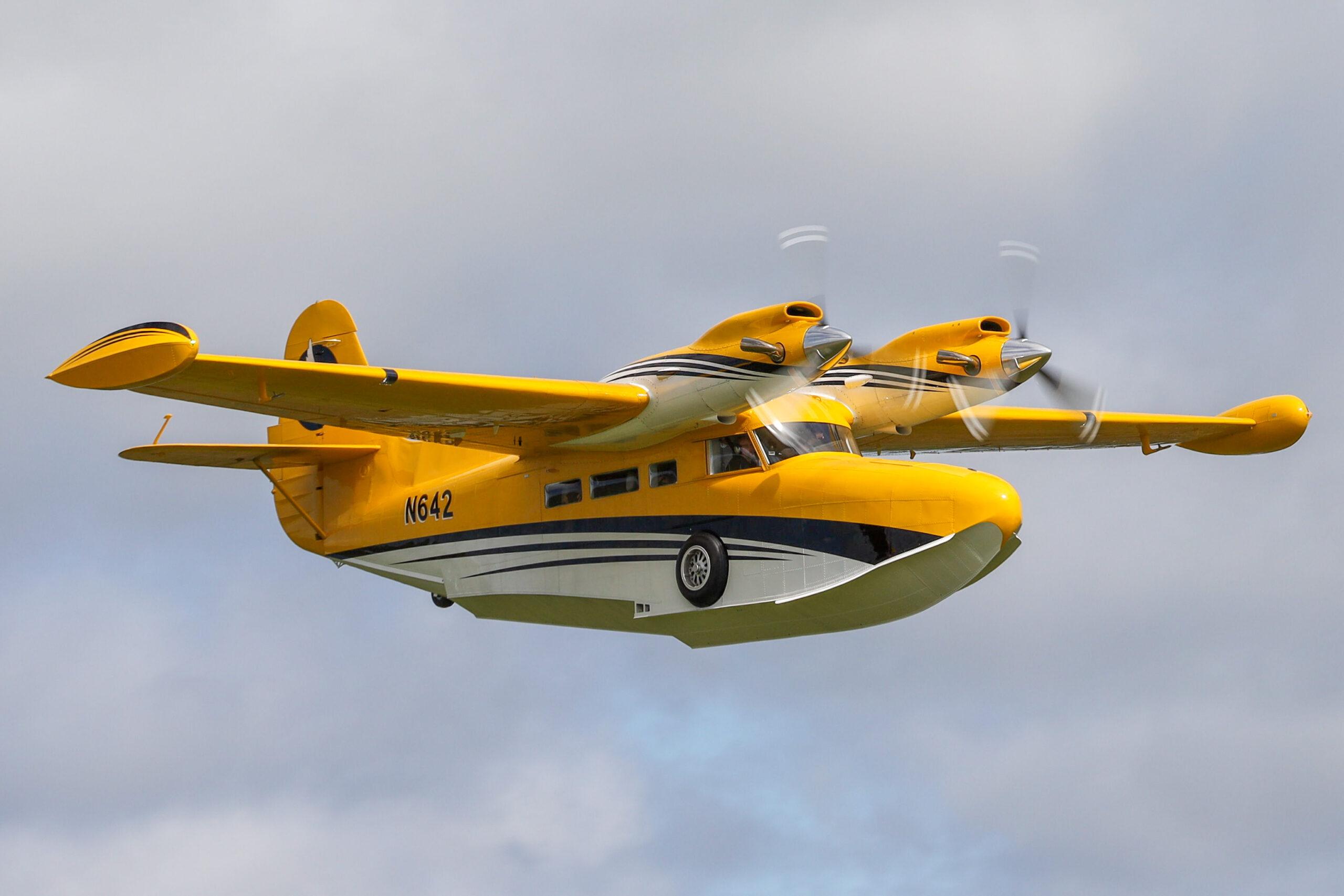 """Grumman UH-16 Albatross reg. N642 at airshow """"Allt sem flygur 2021"""" in Hella // Source: Jón Sverrir Sigurðarson"""