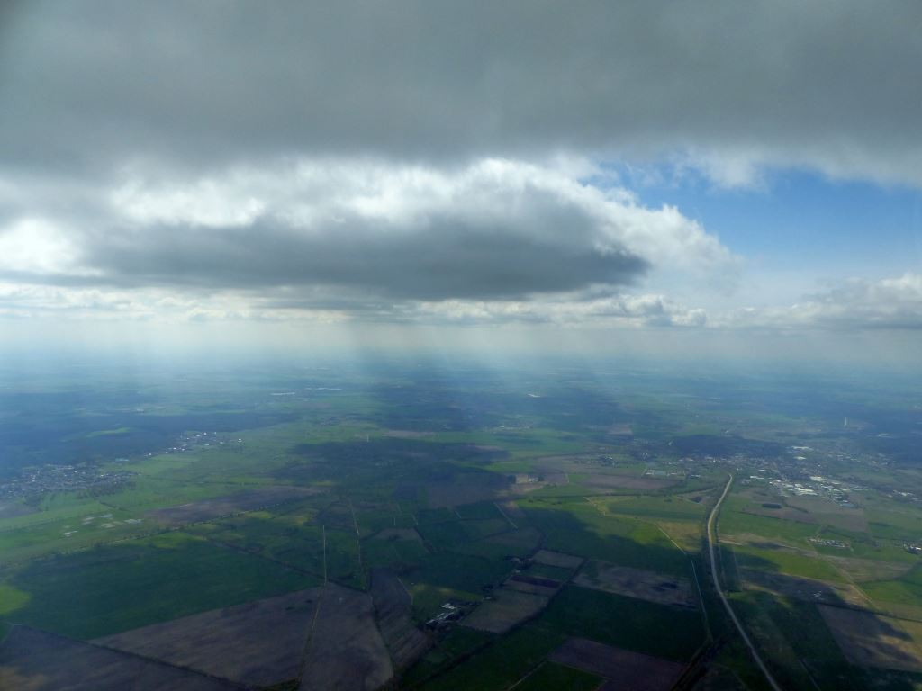 Wolkenstraße, Thermik bis zum Horizont