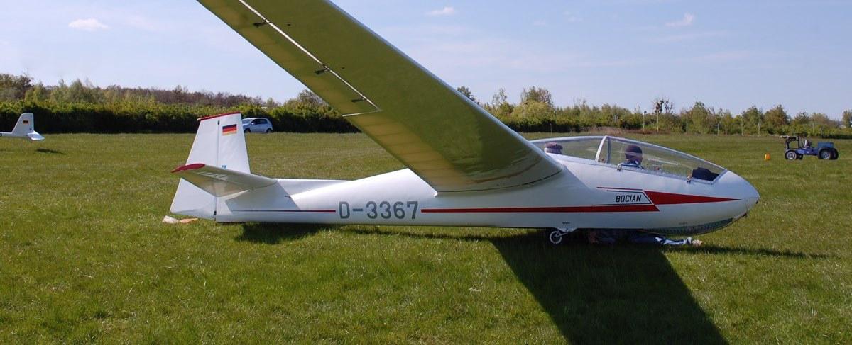 SZD-9 Bocian 1E D-3367 in Oschatz