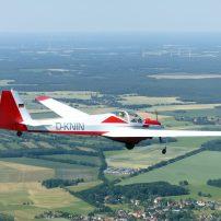 Falke SF25 A D-KNIN mit Erik über Finsterwalde