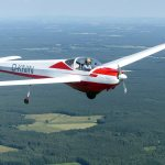 Falke SF25 A D-KNIN mit Erik Formationsflug