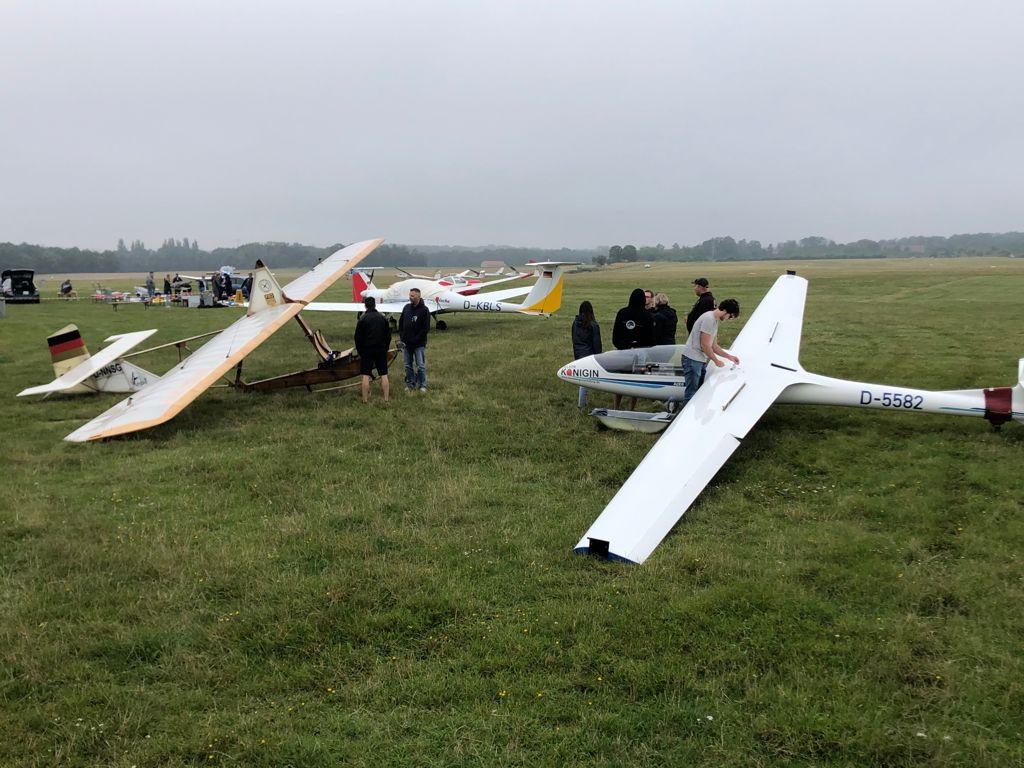 ausgestellte Flugzeuge