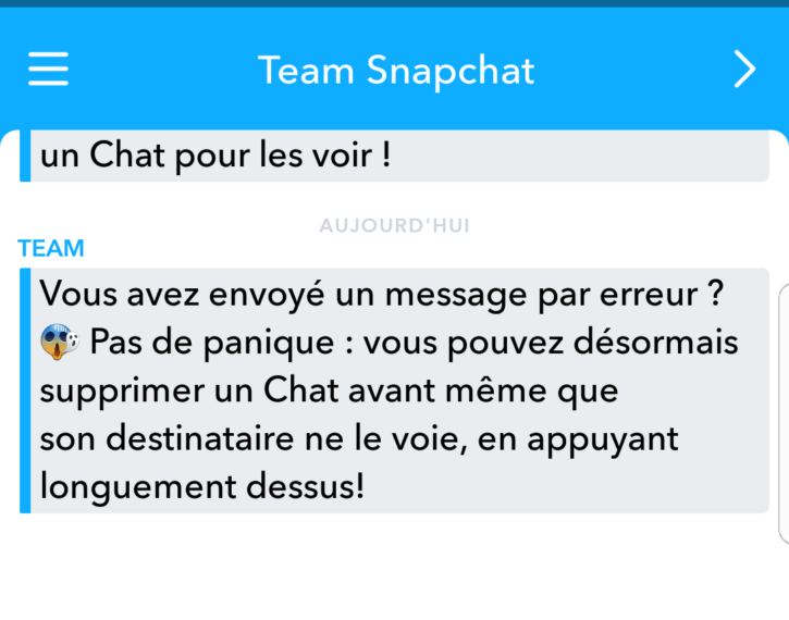 Snap Message