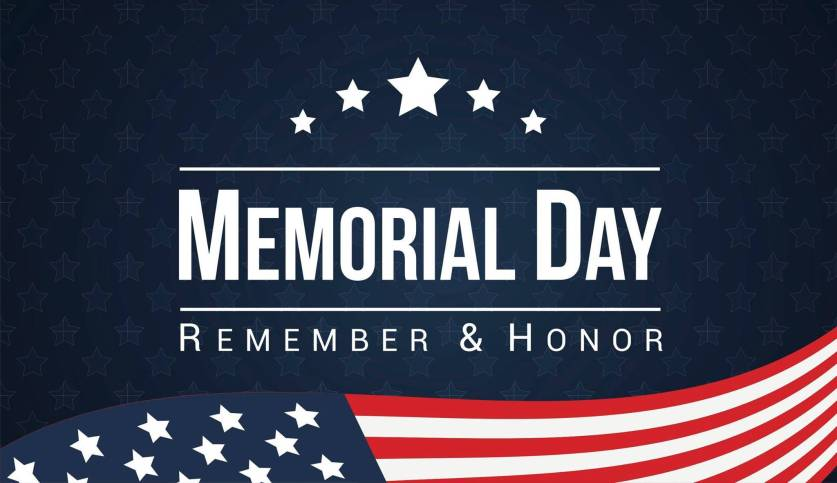 No Class in Honor of Memorial Day