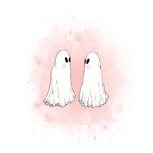 A flukelady painting, titled 'Ghost Love'